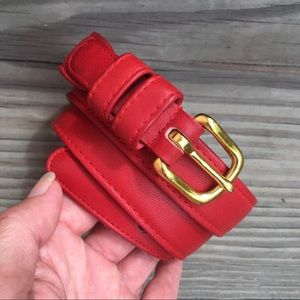 Coach Red Leather Belt